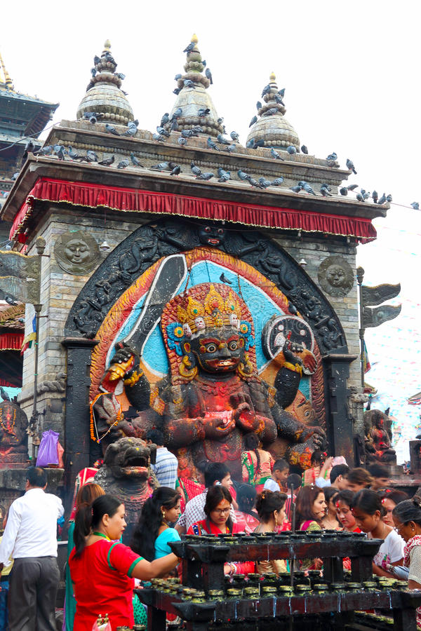 Durbar Square of Kathmandu in the festival stock photography