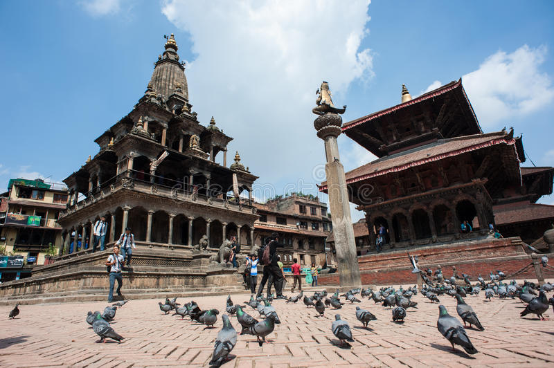 The Durbar square of Patan Royal city. Nepal royalty free stock images