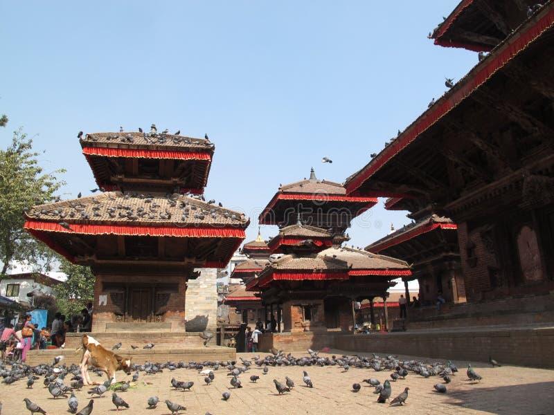Durbarvierkant in Katmandu Nepal royalty-vrije stock foto's