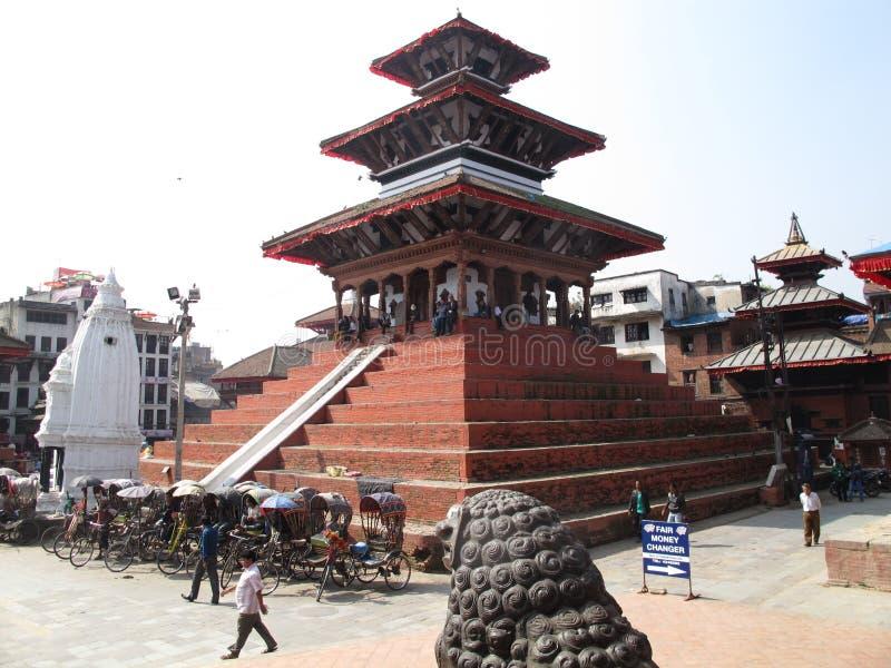 Durbarvierkant in Katmandu Nepal stock afbeelding