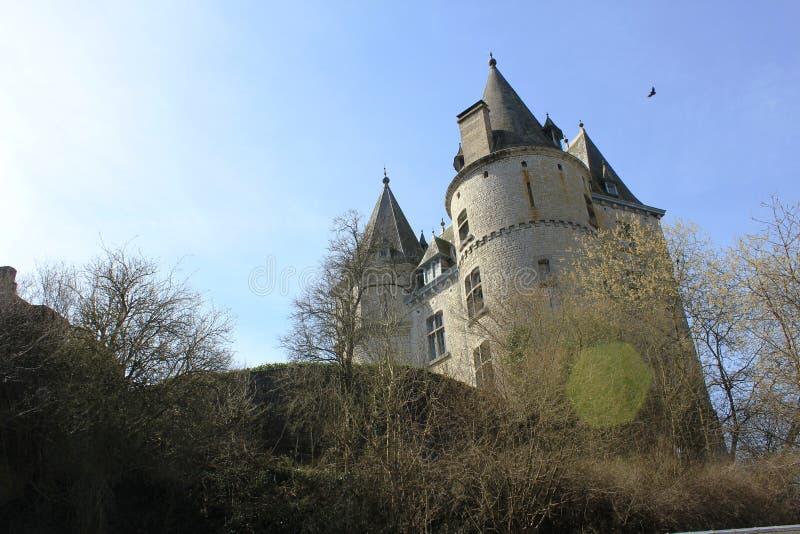 Durbuy Castle στο Βέλγιο στοκ εικόνες