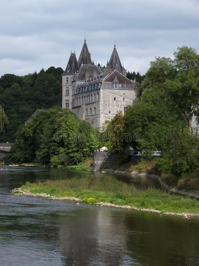 Durbuy castle stock image