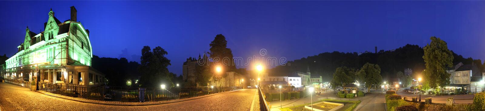 Durbuy By Night Royalty Free Stock Photos