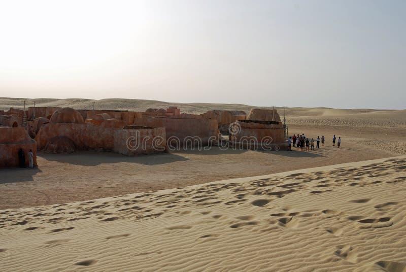 Durch eine Sanddüne versenkt zu werden Star Wars-Satz ungefähr, stockfotos