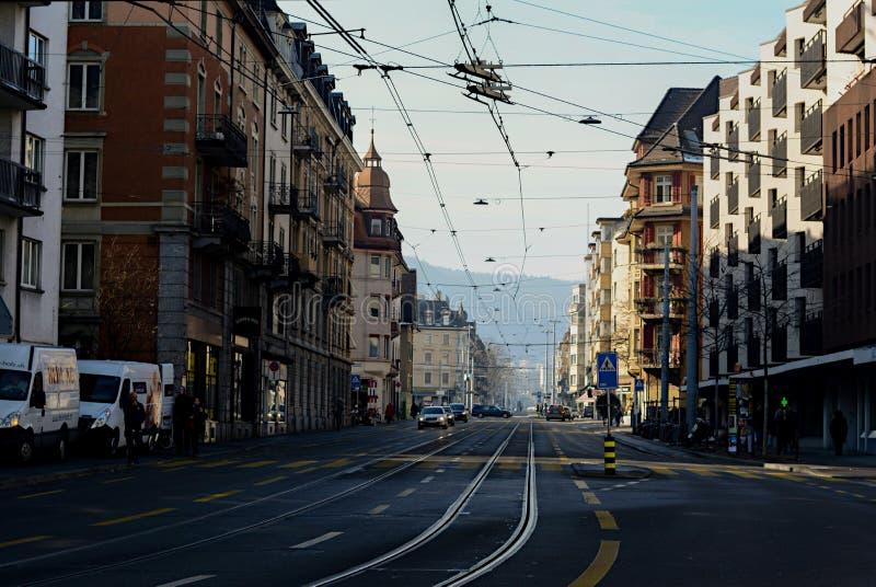 Durch Zürich stockbild