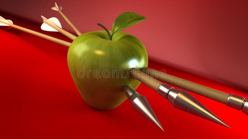 Durchbohrter Apfel vektor abbildung