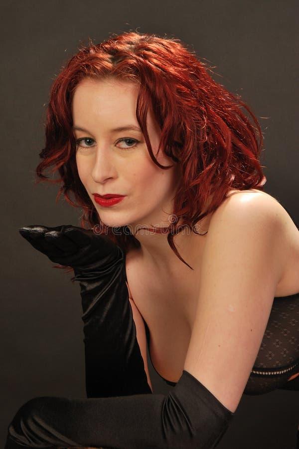 Durchbrennenkuß des Redhead lizenzfreies stockfoto