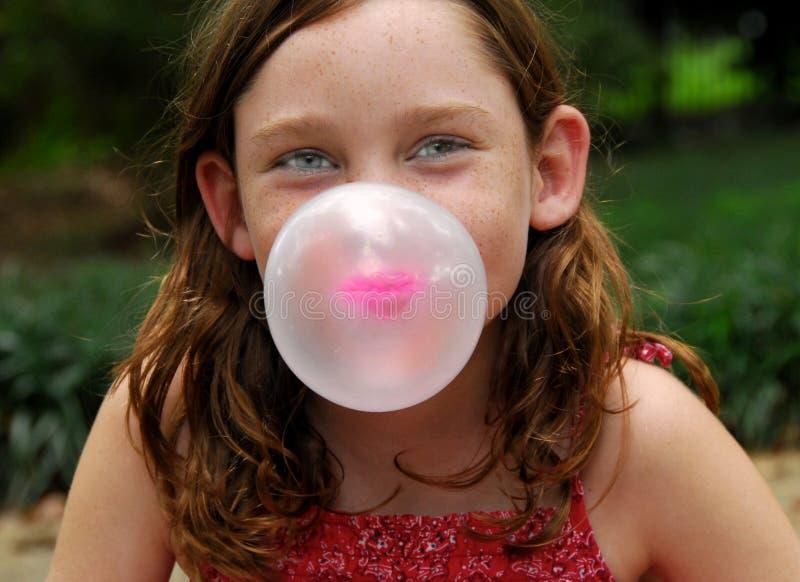 Durchbrennenluftblase mit Gummi lizenzfreies stockbild
