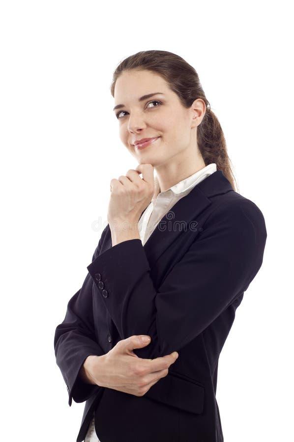 Durchdachte Frau stockfotografie