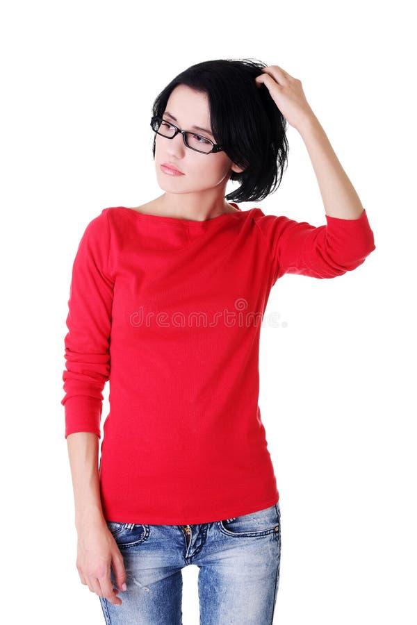 Download Durchdachte Frau Mit Problem Stockbild - Bild von alleine, zusammenbruch: 27729203