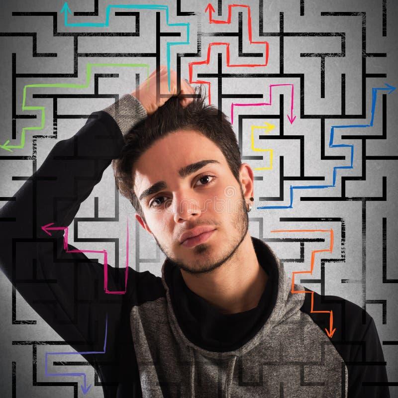Durchdachter Jugendlicher lizenzfreie stockfotografie