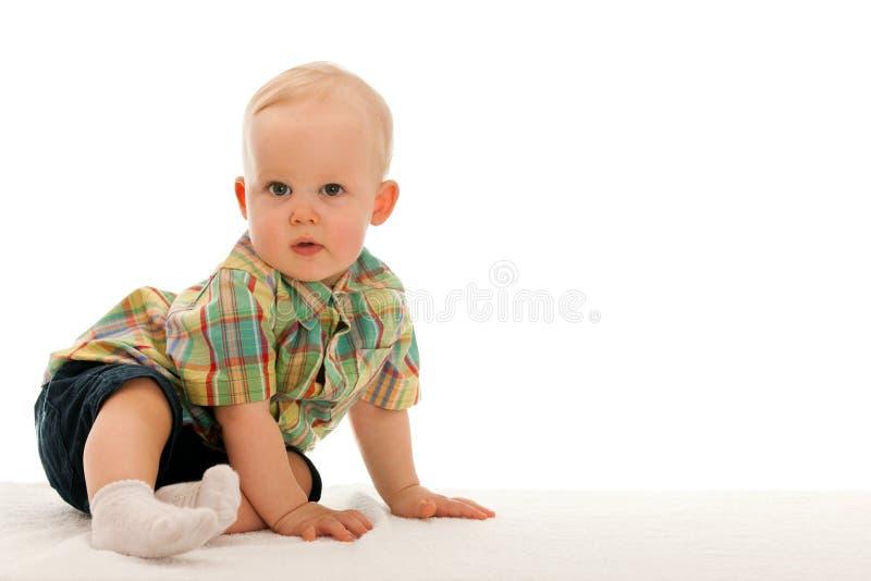 Durchdachtes Baby lizenzfreies stockbild