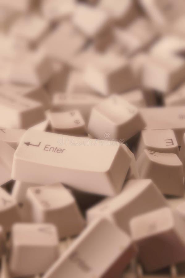 Durcheinandergebrachte Computer-Tasten stockbild