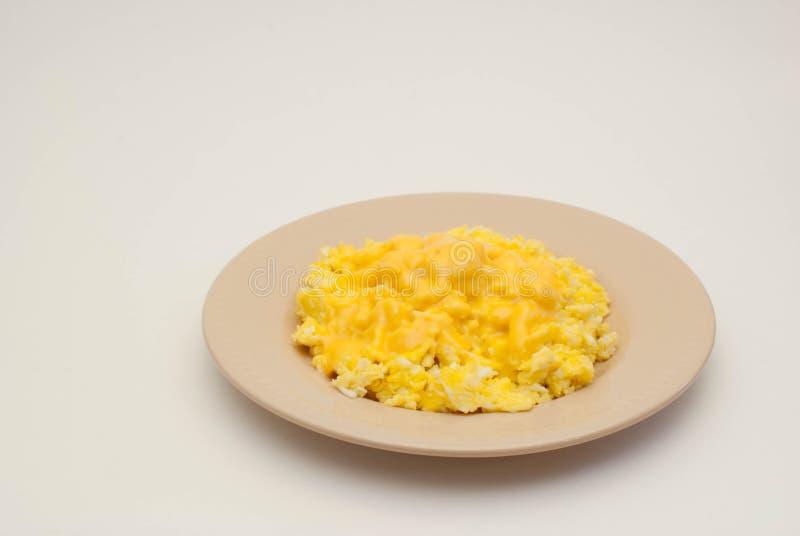 Durcheinandergemischte Eier stockbild