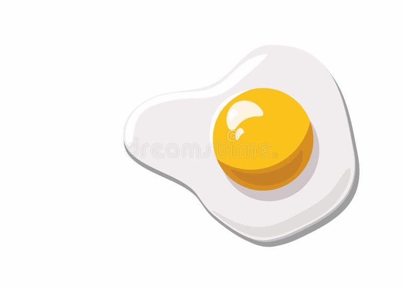 Durcheinandergemischtes Ei, Omelett lokalisiert auf weißem Hintergrund vektor abbildung