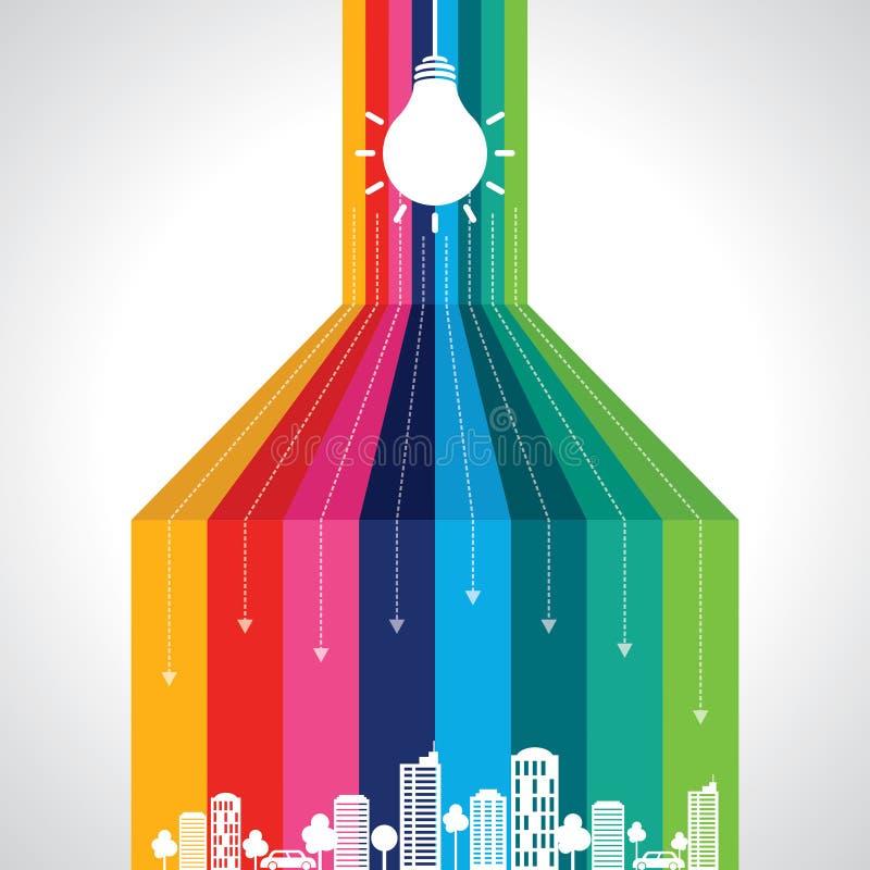 Durchführbare Idee - Illustration in der städtischen Richtung stock abbildung