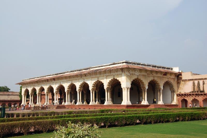 Durchführung des Agra-Forts in Indien stockbild