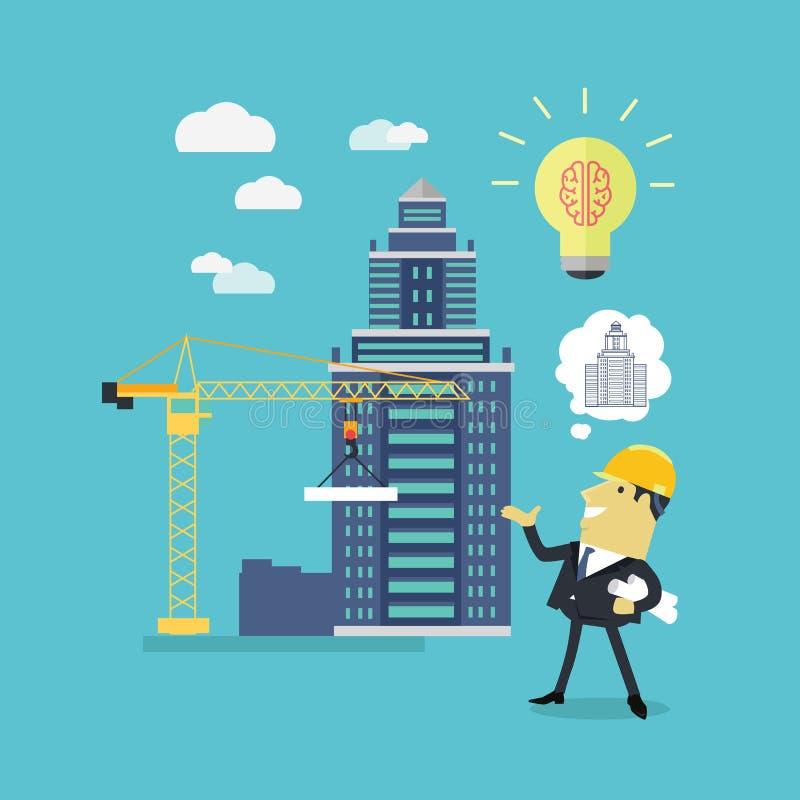 Durchführungs-Ideen-Architekt vektor abbildung