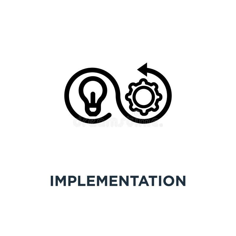 Durchführungsikone Durchführungskonzept-Symbolentwurf, vecto stock abbildung