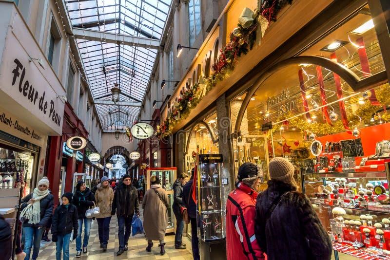 Durchgang de L'Argue in Lyon, Frankreich lizenzfreies stockbild