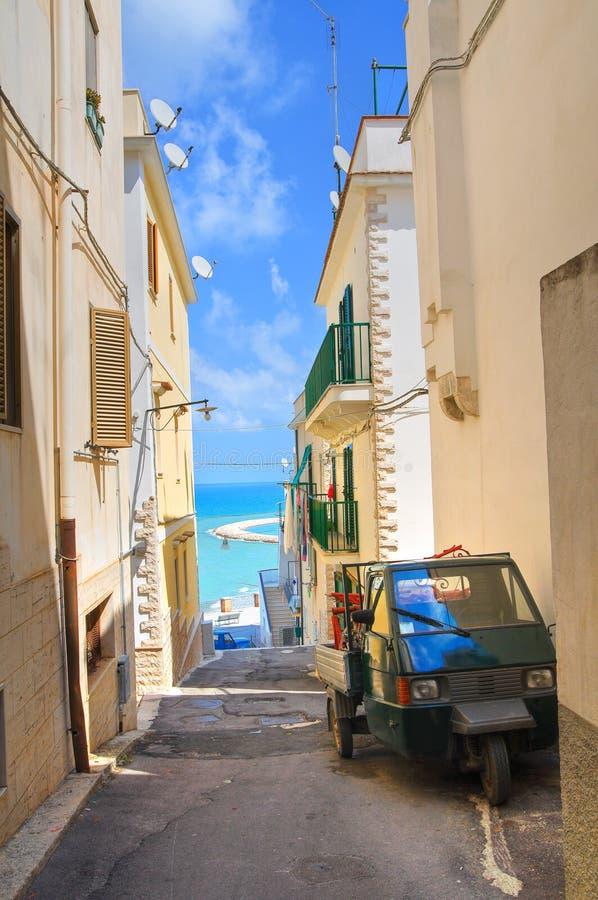 Durchgang. Rodi Garganico. Puglia. Italien. stockbild