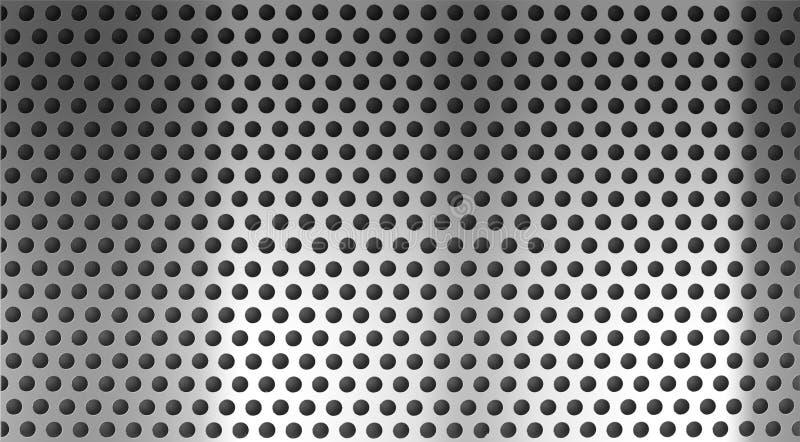 Durchlöcherter oder durchlöcherter Rasterfeldhintergrund des Metallstahls lizenzfreies stockbild
