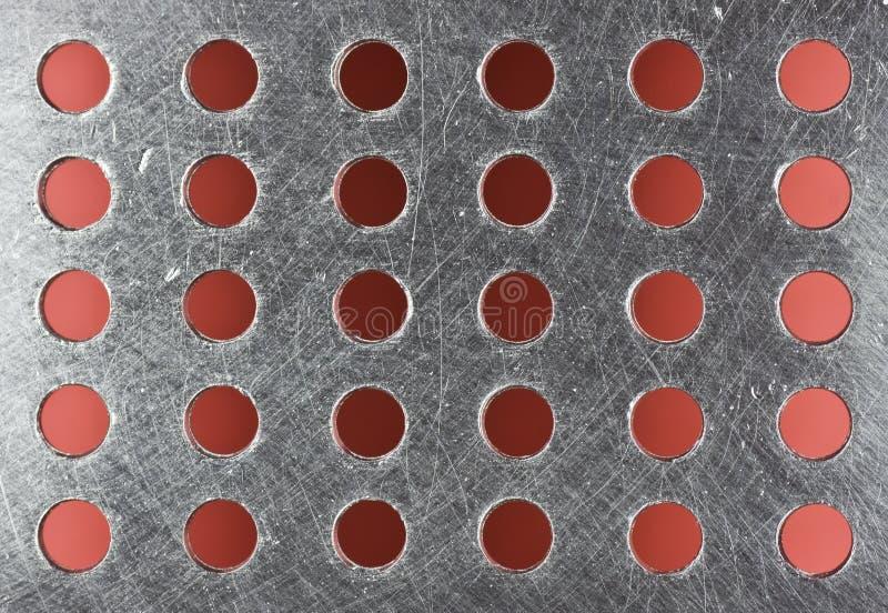 Durchlöchertes Metallblatt lizenzfreies stockbild