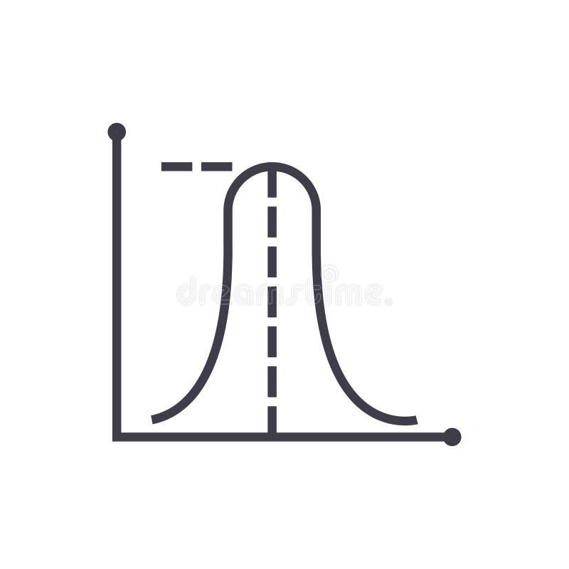 Durchschnittliche maximale Diagrammvektorlinie Ikone, Zeichen, Illustration auf Hintergrund, editable Anschläge lizenzfreie abbildung