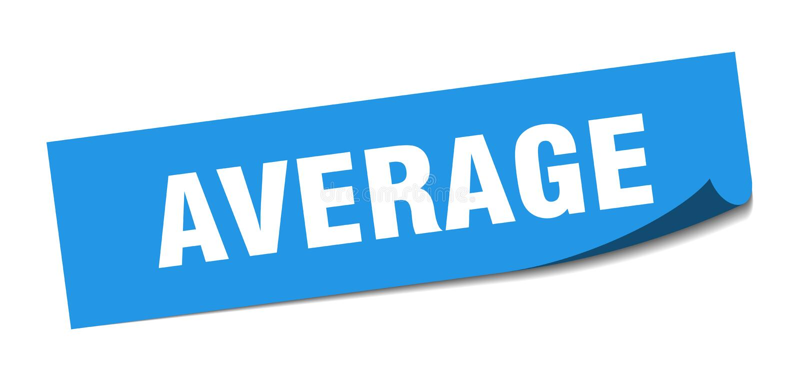 durchschnittlicher Aufkleber lizenzfreie abbildung