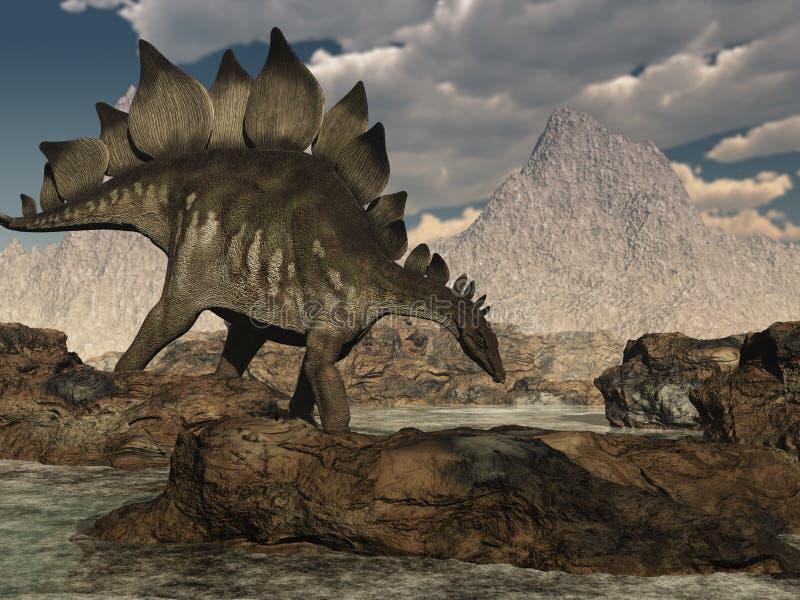 Durchstreifender Stegosaurus vektor abbildung