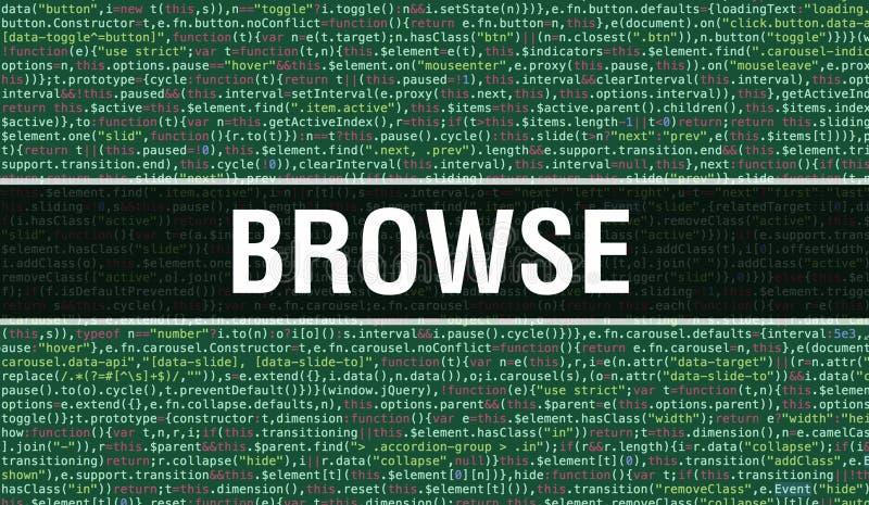 Durchsuchen von Text, der auf dem Hintergrund der abstrakten Programmier-Code-Technologie von Softwareentwicklern und Computerskr stockfoto