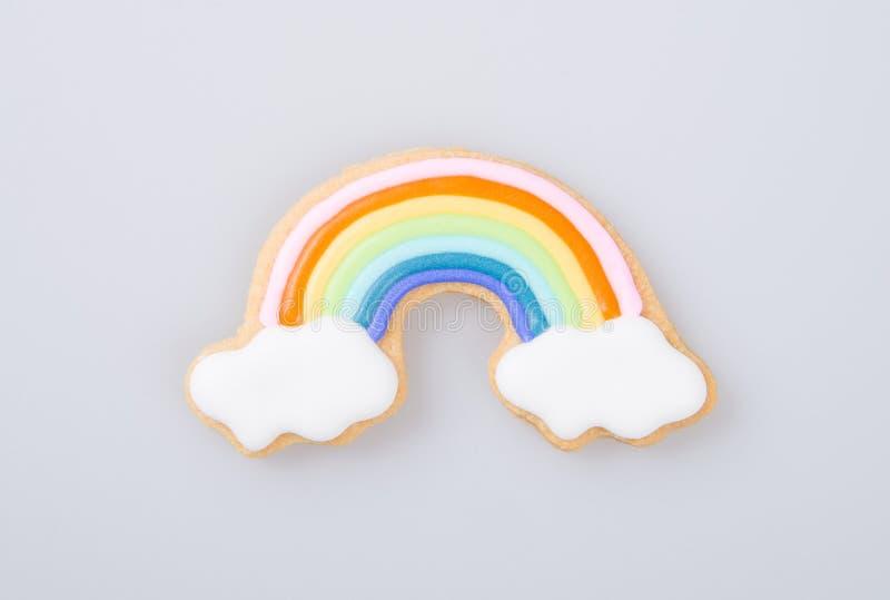 durcissez la décoration ou durcissez l'arc-en-ciel de décoration sur un fond images libres de droits