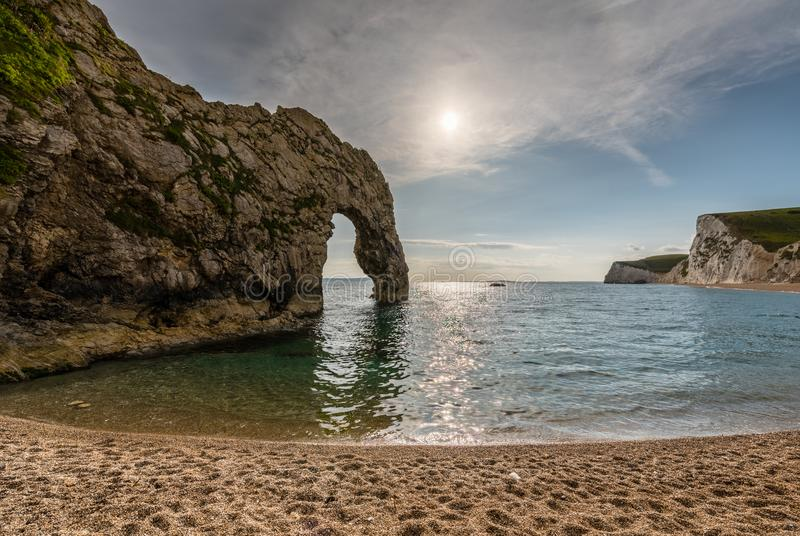 Durdle door in Dorset stock photos