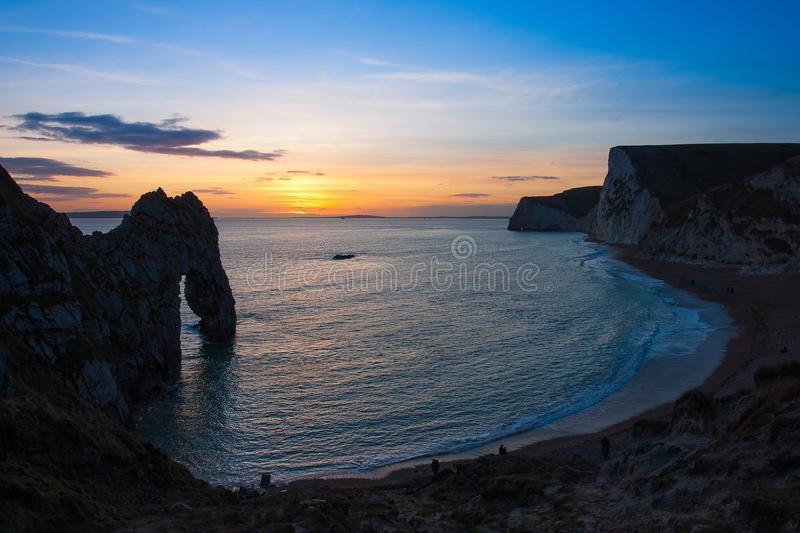 Durdle Door in Dorset, England. stock photo