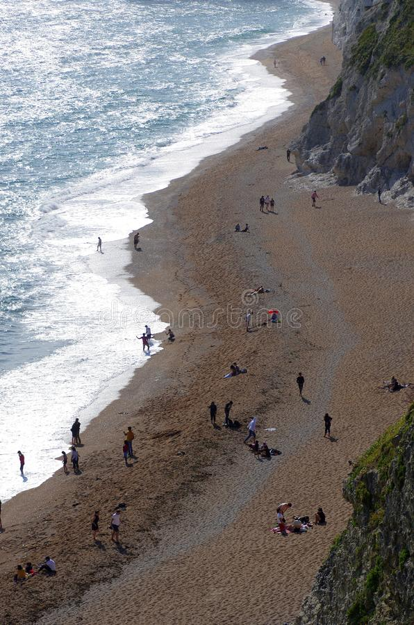 Durdle Door, one of the Jurassic Coast`s most iconic landscapes during summer season royalty free stock photography