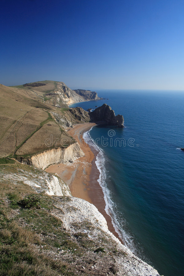 Free Durdle Door South Coast Path In Dorset Royalty Free Stock Photos - 4336938