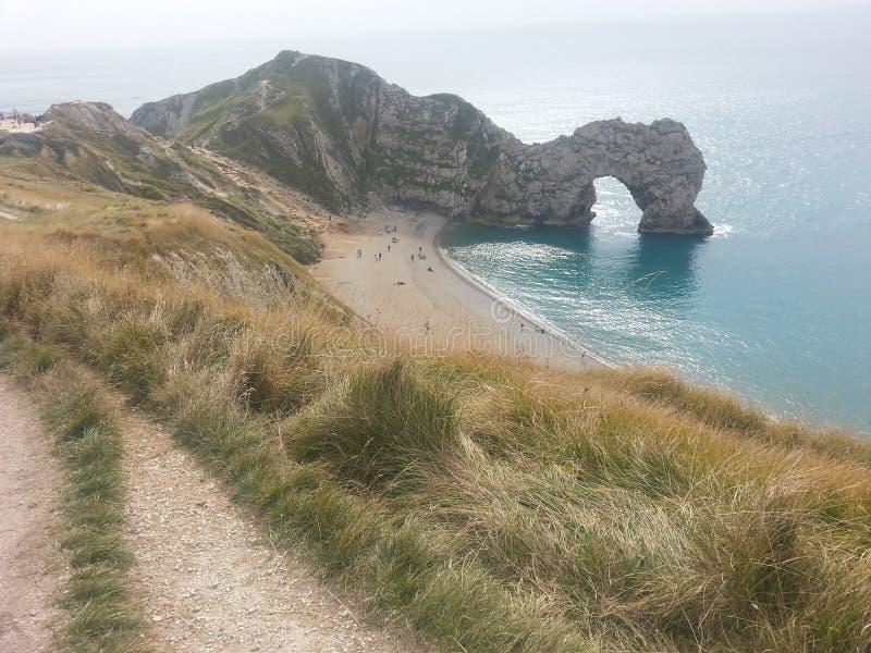 Durdle drzwi w Dorset Anglia obrazy stock