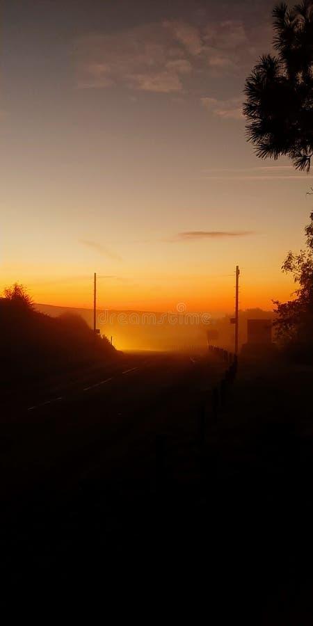 Durdle drzwi wschód słońca fotografia stock