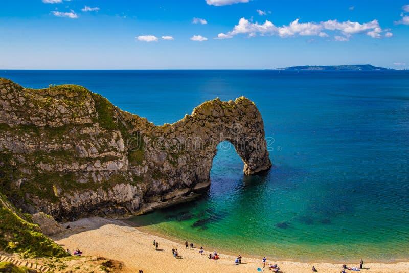 Durdle Drzwiowa Jurajska linia brzegowa Dorset |Anglia zdjęcie stock