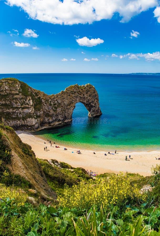 Durdle-T?r-Jurak?stenlinie Dorset  England lizenzfreies stockfoto