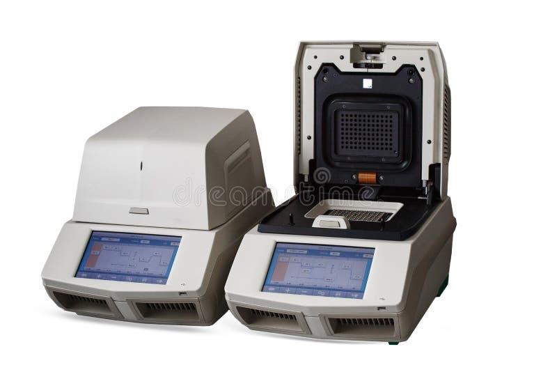 Dure medische apparatuur voor diagnostiek en onderzoek stock afbeelding