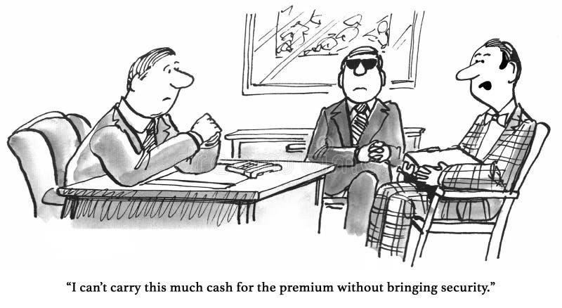 Dure Ziektekostenverzekering royalty-vrije illustratie