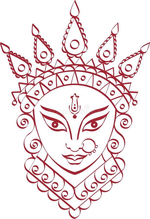 Durga Goddess of Power. Vector Art vector illustration