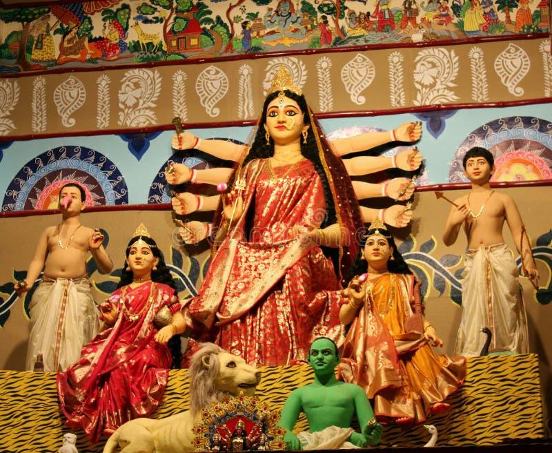 Durga Idol royaltyfri fotografi