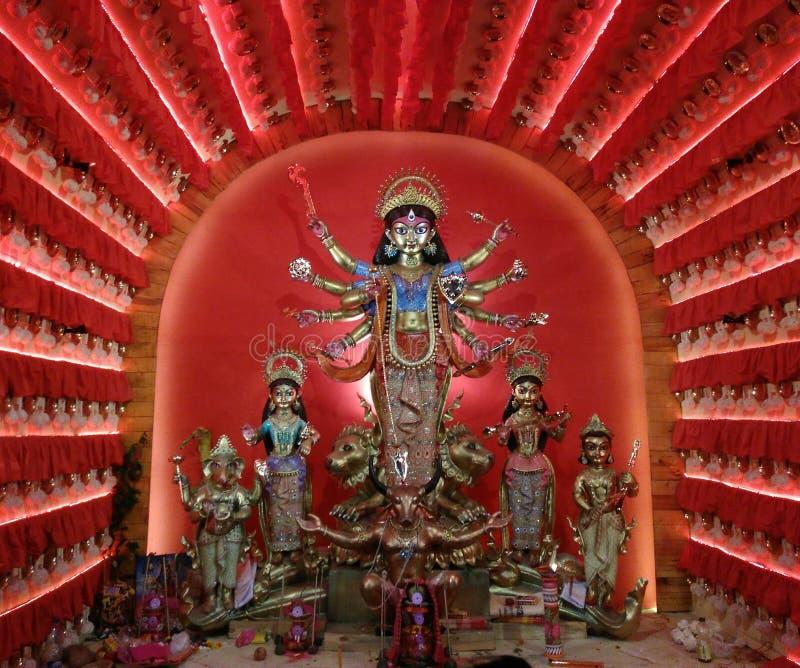 Durga Idol arkivfoton