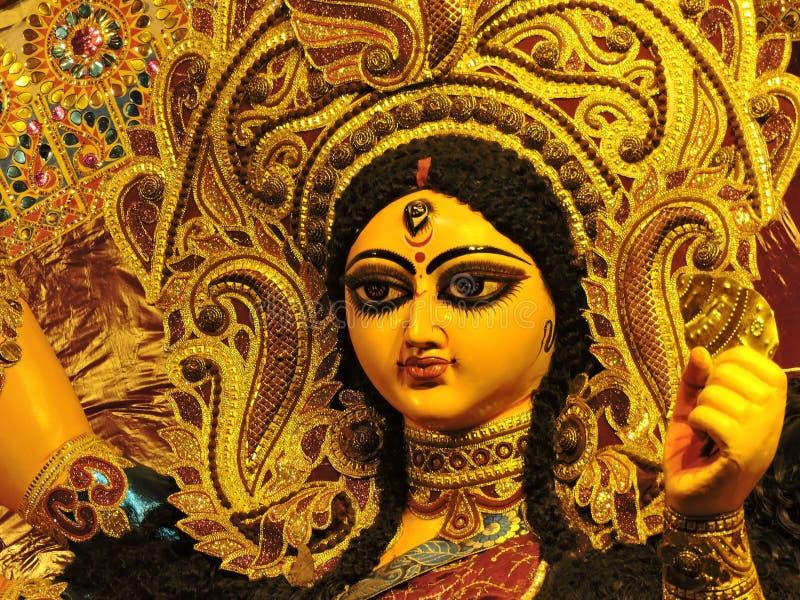 Durga Idol Face - Indien schließen stockfoto
