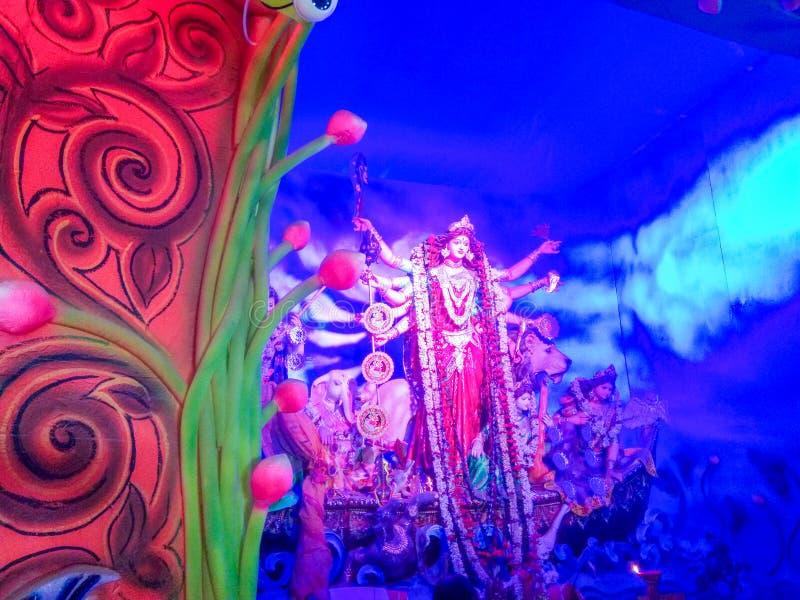 Durga idol - Durga puja Navrata, Zachodni Bengalia, India zdjęcie royalty free