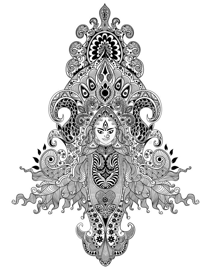 Download Durga Puja stock vector. Image of decorative, background - 26854252