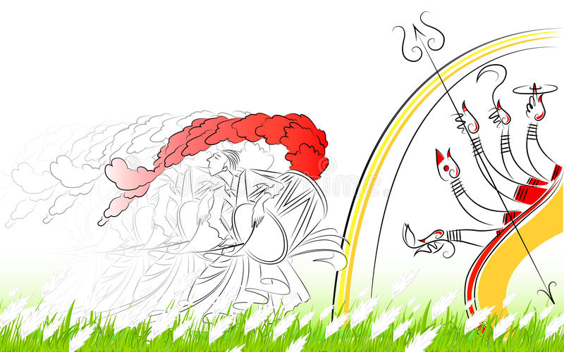 Durga Puja ilustracji