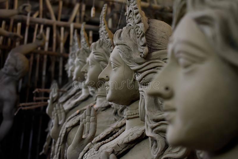 Durga Puja, anche chiamata Durgotsava, ? un festival ind? annuale nel subcontinente indiano che riverisce la dea Durga immagine stock
